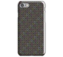 Colorful bubbles on grey background - pattern vector design iPhone Case/Skin