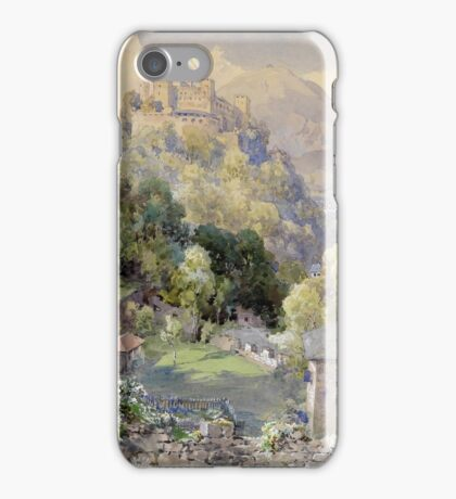 Overlooking the Hohenwerfen Fortress in Salzburg by Edward Theodor Compton iPhone Case/Skin