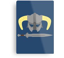Iron helmet & imperial sword Metal Print