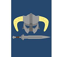 Iron helmet & imperial sword Photographic Print