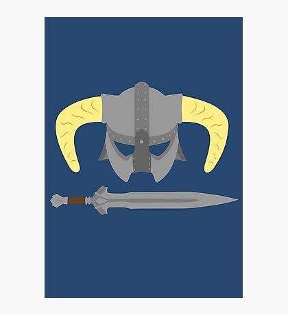 Iron helmet & imperial sword Photographic Print
