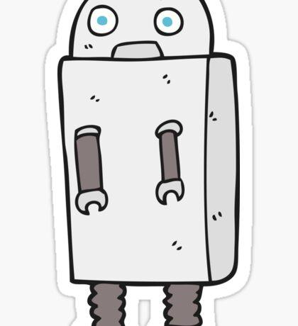 cartoon robot Sticker