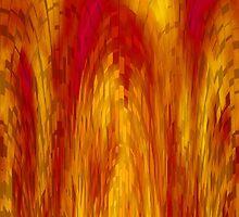 Fiery Block Cascade by lolohannah