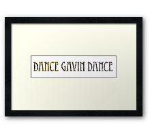 Dance Gavin Dance Text Framed Print