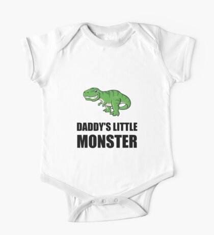 Daddys Little Monster One Piece - Short Sleeve