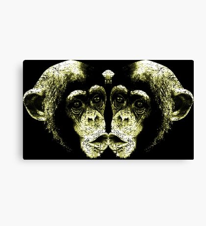 Monkey Kiss Canvas Print