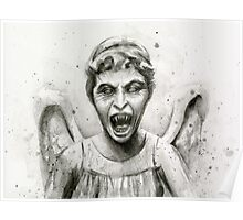 Weeping Angel Watercolor - Doctor Who Fan Art Poster