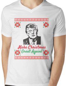 Make Christmas Great Again Ugly Sweater Donald Trump Mens V-Neck T-Shirt