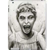 Weeping Angel Watercolor - Doctor Who Fan Art iPad Case/Skin