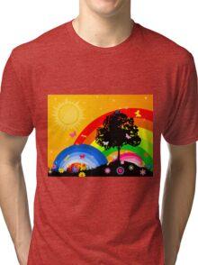 Bright sky Tri-blend T-Shirt