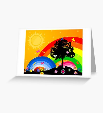 Bright sky Greeting Card