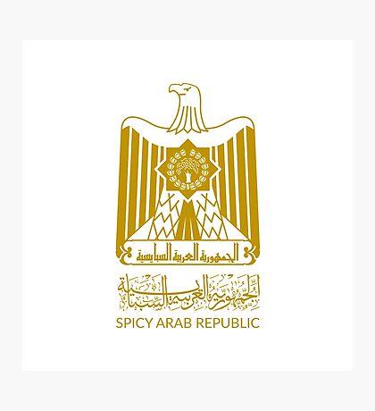 Spicy Arab Republic - Coat of Arms Photographic Print