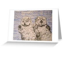 Otter Friends Greeting Card