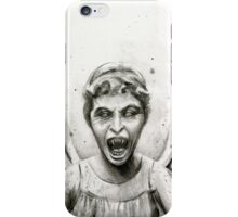 Weeping Angel Watercolor - Doctor Who Fan Art iPhone Case/Skin