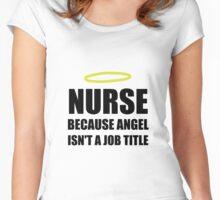 Nurse Angel Job Title Women's Fitted Scoop T-Shirt