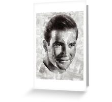 William Shatner Star Trek's Captain Kirk Greeting Card