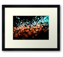 macro fibre optics Framed Print