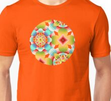 Retro Ombre Flowers (large scale) Unisex T-Shirt