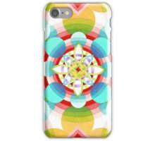 Retro Ombre Flowers (large scale) iPhone Case/Skin