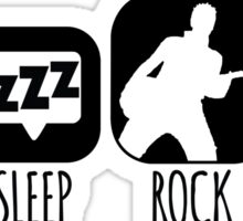 Eat Sleep Rock Repeat Guitarist Mantra Sticker