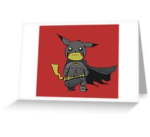 Bat Pikachu Greeting Card