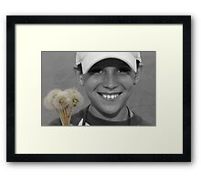 """。◕‿◕。""""LOOK HERE!"""" ..LETS GO BLOW OUR CARES AWAY。◕‿◕。  Framed Print"""