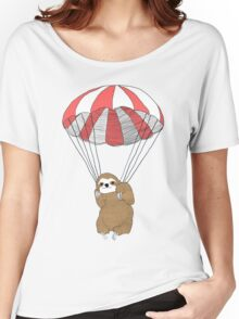 Parachuting Sloth Women's Relaxed Fit T-Shirt