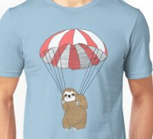 Parachuting Sloth Unisex T-Shirt