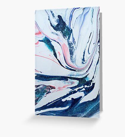 pastel swirl Greeting Card