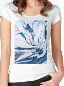 pastel swirl Women's Fitted Scoop T-Shirt
