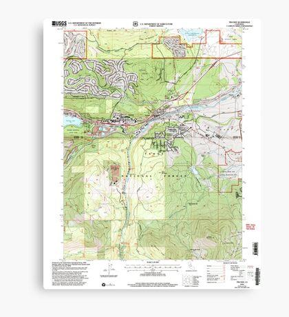 USGS TOPO Map California CA Truckee 295533 2000 24000 geo Canvas Print