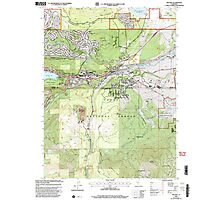 USGS TOPO Map California CA Truckee 295533 2000 24000 geo Photographic Print