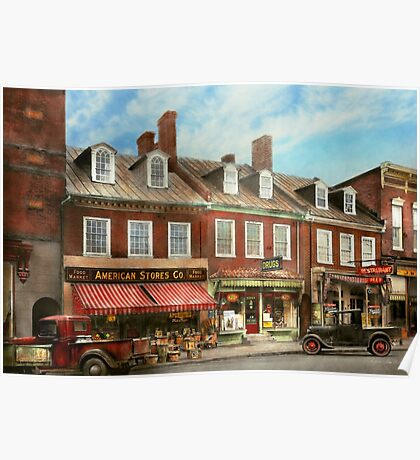 City - Easton MD - A slice of American life 1936 Poster