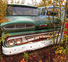 Chevrolet in woods by zumi