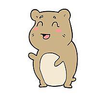 cartoon cute hamster Photographic Print
