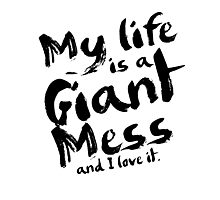 Andy Dwyer My Life is a Giant Mess Parks and Recreation Photographic Print