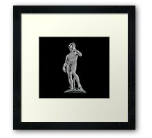 Bronze David Framed Print