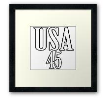 USA 45 - President Trump Framed Print