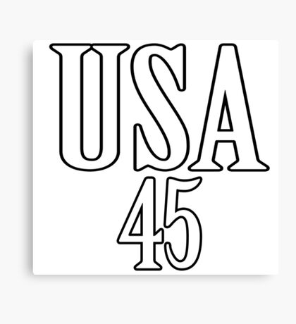 USA 45 - President Trump Canvas Print
