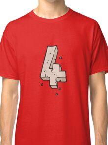 cartoon stone number four Classic T-Shirt
