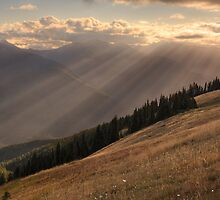 Rays of sunlight over Hurricane Hill, Olympic National Park by DArthurBrown