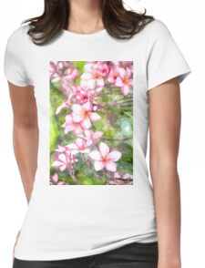 Plumeria wald Womens Fitted T-Shirt