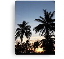 Sunset silhoutte Canvas Print