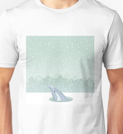 Dolphin in an ice-hole Unisex T-Shirt