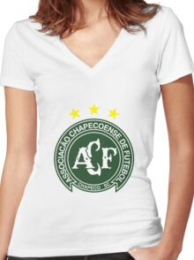 Chapecoense Football Club Women's Fitted V-Neck T-Shirt