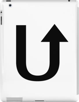 Letter U - U turn by SmartTees