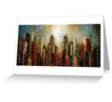 Art City Oil Painting Greeting Card
