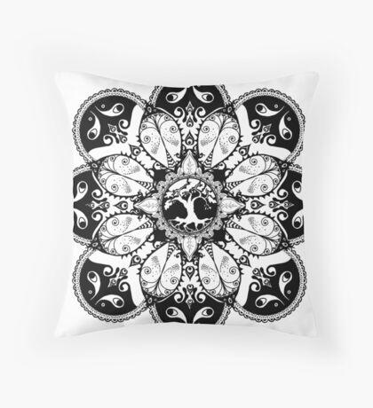 Tree Mandala Throw Pillow