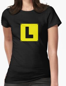 L plate Learner Driver Womens Fitted T-Shirt