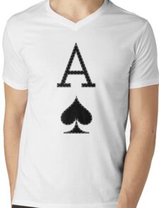 Letter A - Ace Mens V-Neck T-Shirt
